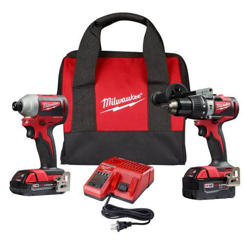 KIT TALADRO ATORNILLADOR MILWAUKEE 18V FUEL